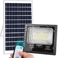 200w Led Solar Street Light 400LED Dusk To Dawn Solar Powered Flood Light iP67