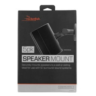 Rocketfish- Tilting Wall Mounts For Most Small Speakers (5-pack) - Black