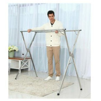 Stainless Steel Laundry Drying Rack Installed Foldable Space Saving Heavy Duty