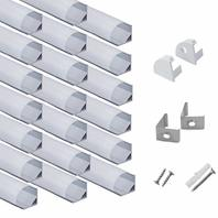 hunhun 20-Pack 3.3ft V Shape LED Aluminum Channel System