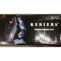KEDIERS 7 PCS RGB Fans Computer ATX Mid-Tower (White) GAMING CASE