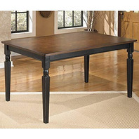 Ashley - Owingsville Rectangular Dining Room Table - Casual - Black/Brown READ