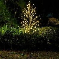 Snokip Lighted Tree 6ft 208 LED Helloween light Artificial Trees