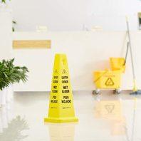 "AmazonCommercial Floor Safety Cone, 25-3/4"" Caution Wet Floor, Bilingual - 2PAK"