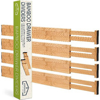 4 Bamboo Drawer Dividers