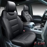 Ford Front and Back Seat Covers 5 Pieces, Waterproof Leather Set