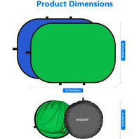 Neewer Chromakey Backdrops, Double-Sided Green & Blue