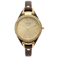 SO & CO New York Women's 5061.2 SoHo Analog Display Quartz Brown Watch