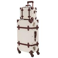 """Vintage Luggage Set 24"""" TSA Locks Wheel with Hand  (READ)"""