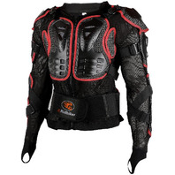 Motorcycle full body armor protector - Small, Red