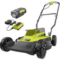 RYOBI RY401010-Y 18 '' Cordless 2-in-1 Lithium-Ion 40V 6Ah Battery and Charger
