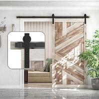 Skysen 6.6FT Sliding Barn Door Hardware Track Kit