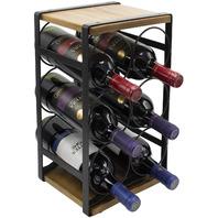 Sorbus Rustic wood wine rack holds 6