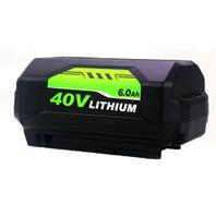 6.0Ah For Ryobi 40V Lithium Battery High Capacity - 3rd Party