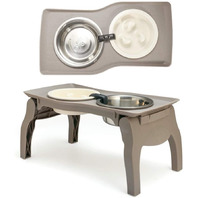 Elevated Pet Bowl Stand with Slow Feeder