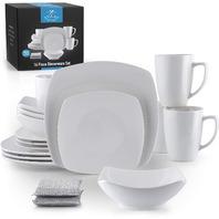 Zulay Kitchen Porcelain Dinnerware Set 16pieces