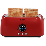 Toaster 4 Slice Long Slo, Red