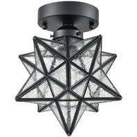 Moravian Star Light Flush Mount Ceiling Light with Seeded Glass Shade