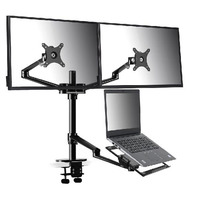 Monitor and Laptop Mount, 3-in-1 Adjustable Stand/Holder