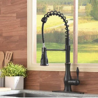 Solid Brass High Arc Oil Rubbed Bronze Pull Out Faucet