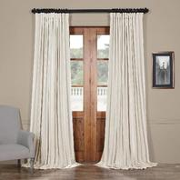 """Extra Wide 100"""" x 96"""" Faux Silk Blackout Curtain Panel"""