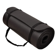 BalanceFrom 1-Inch Thick Yoga Mat with Carrying Strap