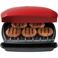 George Foreman 5-Serving Classic Plate Grill Red
