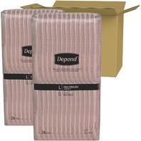 Depend Fit-Flex Women's Maximum Incontinence Underwear, L, Light Pink, 52 Count