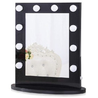 Chende Hollywood Mirror with Lighting, Black