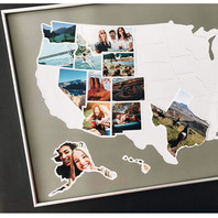 """Usa Photo Map 50 States, United States Collage Poster, Travel Pictures 24"""" X 36"""""""