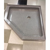 SWANSTONE Solid Surface Neo-Angle shower base -Gray Granite (SEE note)