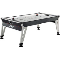 """ESPN 84"""" Ice Quake Air Hockey Table, LED Electronic Scorer, Black/White"""