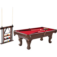 Barrington 90 in. Billiard Table with Cue Rack AS IS - READ