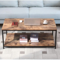 BONZY HOME Industrial coffee table with metal frame