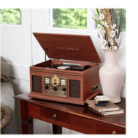 Victrola - Bluetooth Stereo Audio System - Mahogany