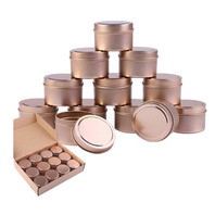 Aneco 12 pieces candle tin with lids