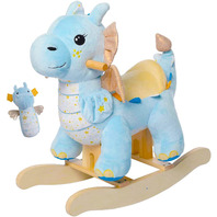 labebe Rocking Horse Blue Winged Horned Dragon