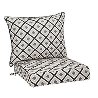 Replacement Deep Seat Cushion- Black Geometric