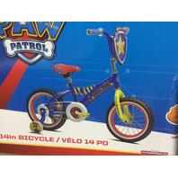 """Paw Patrol Chase 14"""" Boys' Bike Blue"""