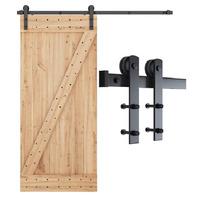 """SMARTSTANDARD 6ft Heavy Duty Barn Door Hardware Kit Fits 36"""" Wide Door"""