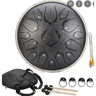 Steel Tongue Drum 15 notes 14 inch