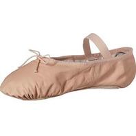 """Adult """"Dansoft"""" Leather Full Sole Ballet Slippers 2C"""