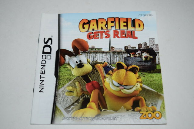 Garfield Gets Real Nintendo Ds Video Game Manual Only Ebay