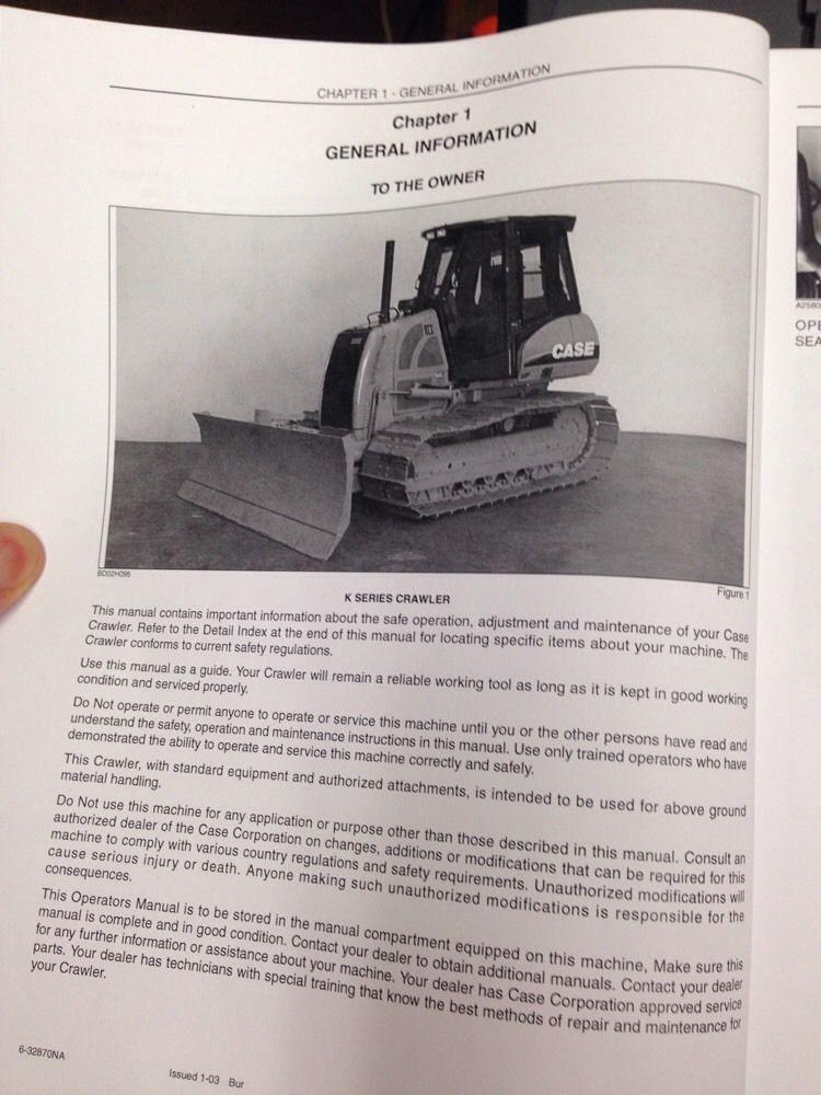 Case 850k manual