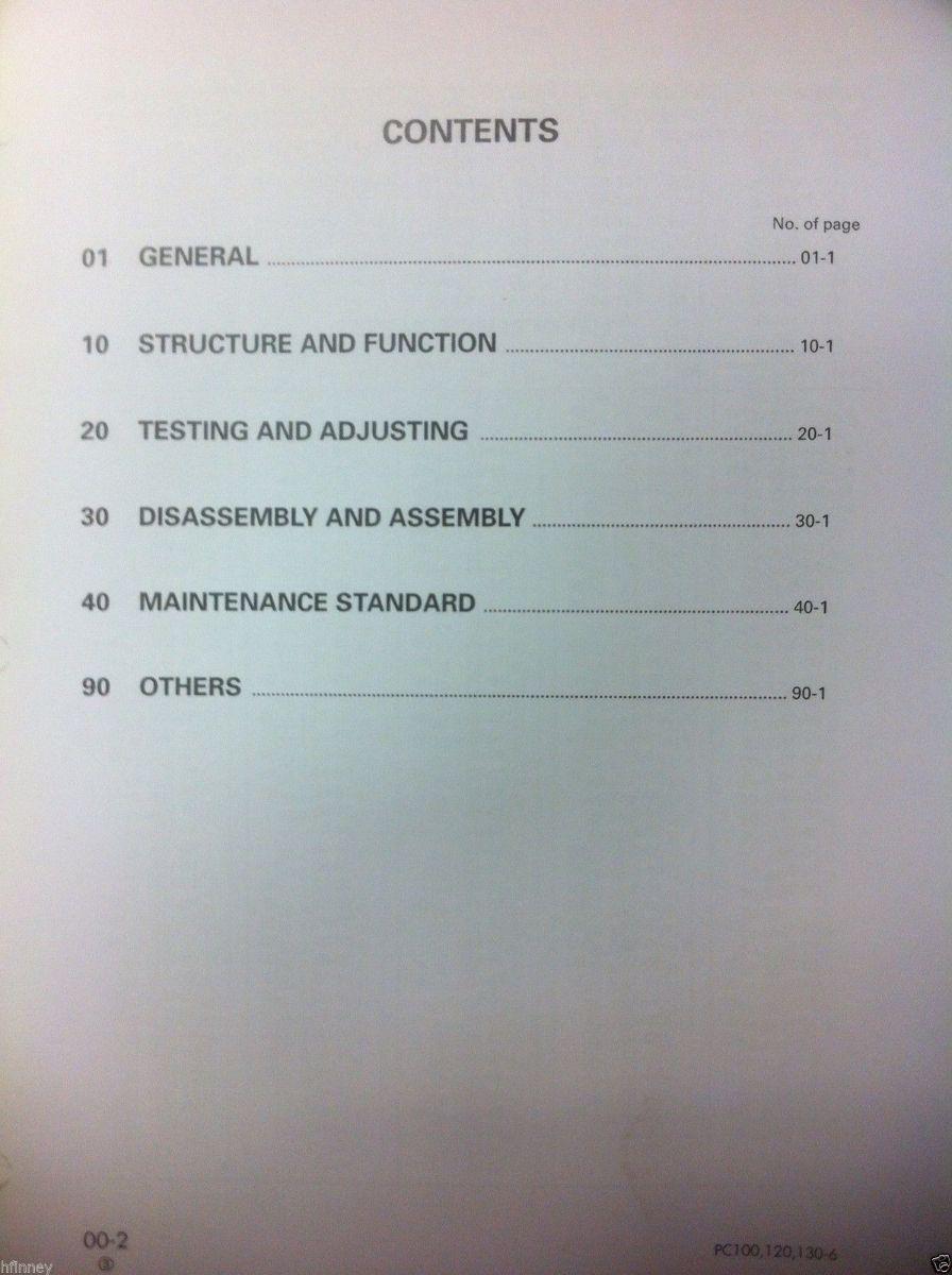 Komatsu Manual 120