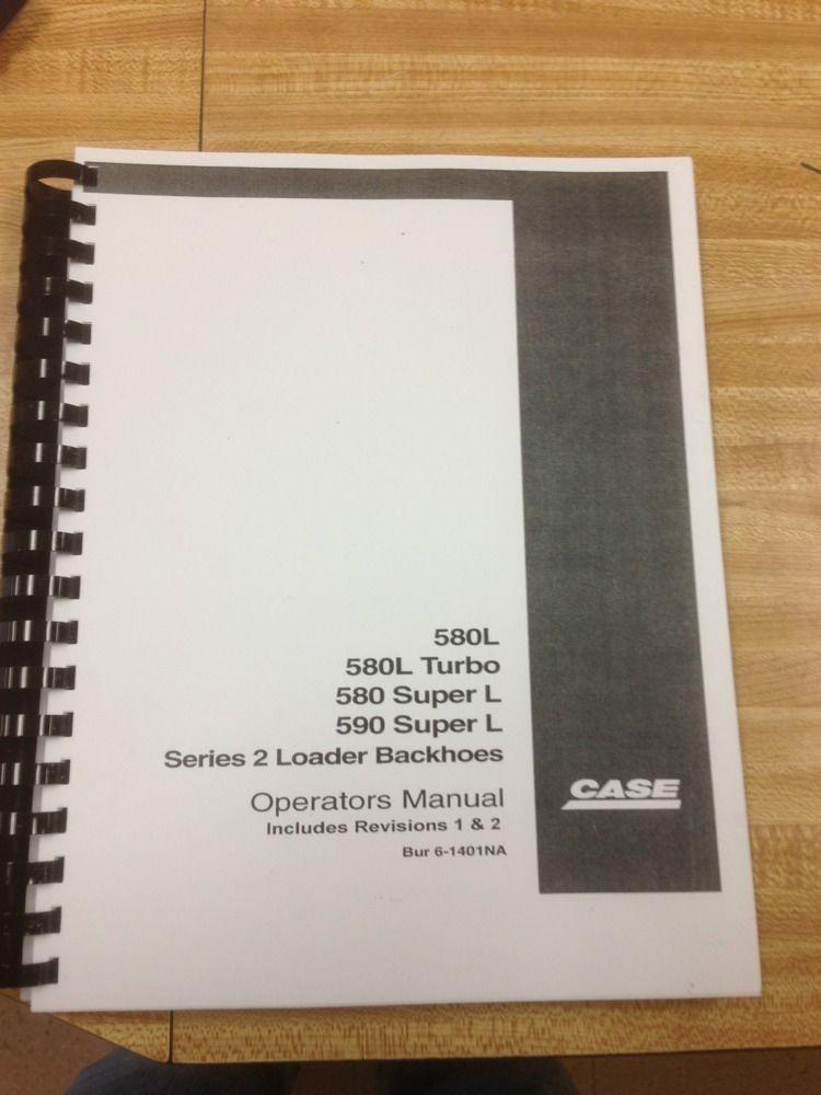 Case 580 Super L Manual