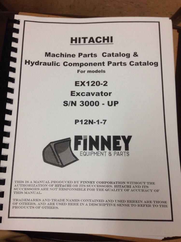 Hitachi 120 excavator Manual
