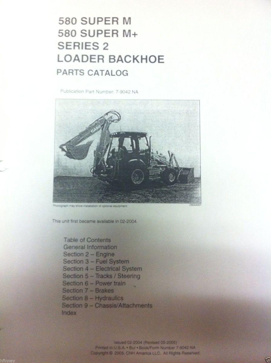 580sm case Backhoe Parts manual
