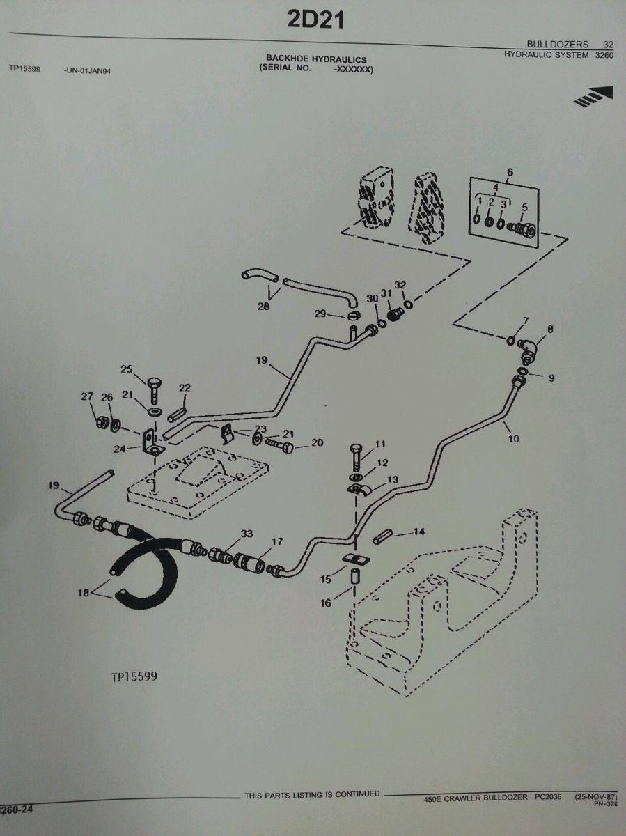 John Deere 450e parts manual