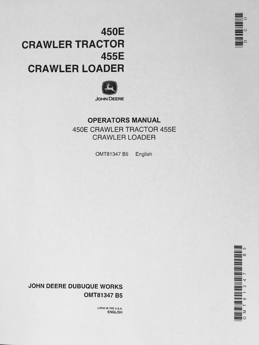 John deere 450 bulldozer Manual